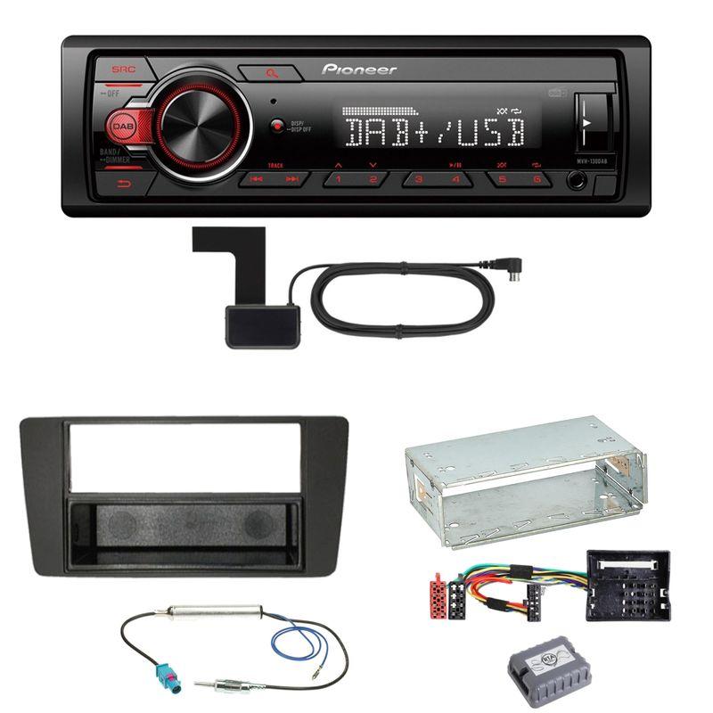Pioneer MVH-130DAB Digitalradio USB Einbauset für Skoda Octavia 2 Yeti 5L