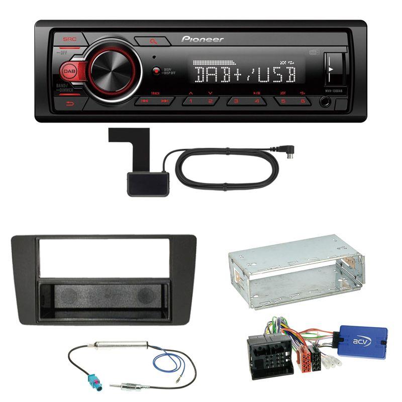 Pioneer MVH-130DAB Digitalradio USB Einbauset für Skoda Yeti 5L Octavia 2