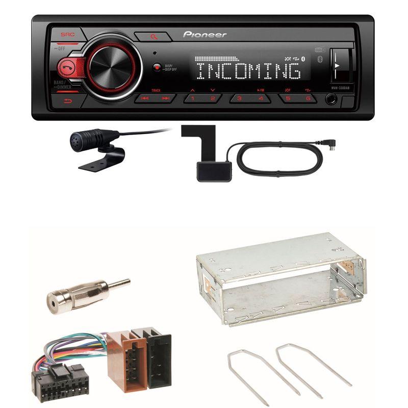Pioneer MVH-330DAB Bluetooth Digitalradio Einbauset für Renault Clio 1 2 Twingo