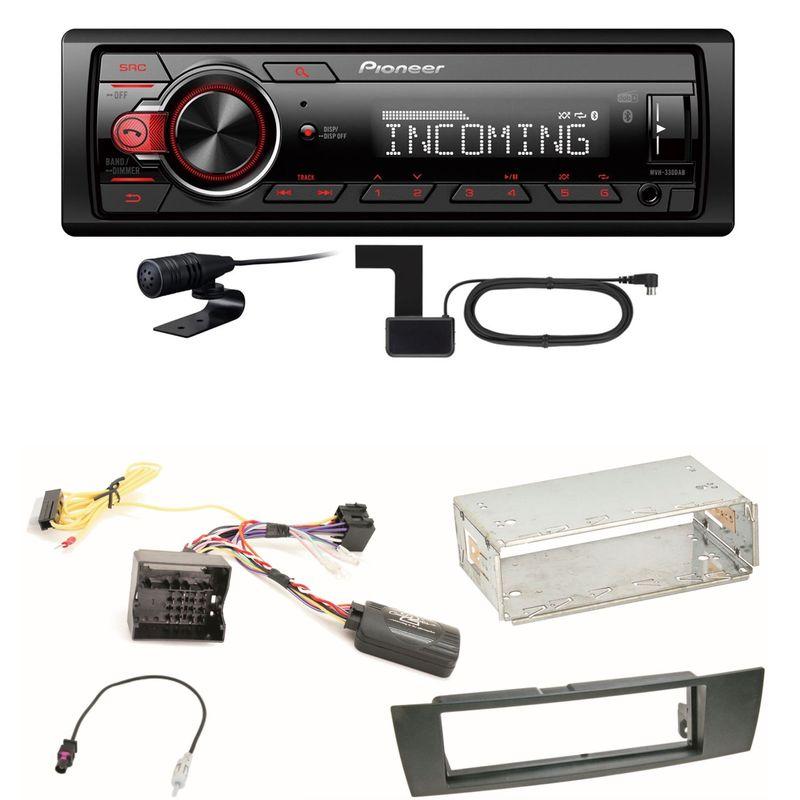Pioneer MVH-330DAB Bluetooth Digitalradio Einbauset für BMW E87 E81 E82 X1 E84