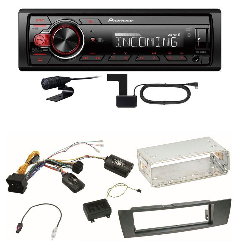 Pioneer MVH-330DAB Bluetooth Digitalradio Einbauset für BMW E90 E91 E92 E93