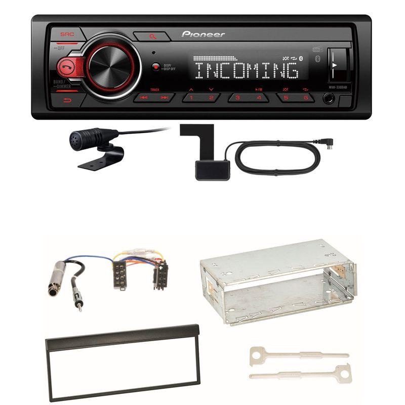 Pioneer MVH-330DAB Bluetooth Digitalradio Einbauset für Skoda Fabia 6Y