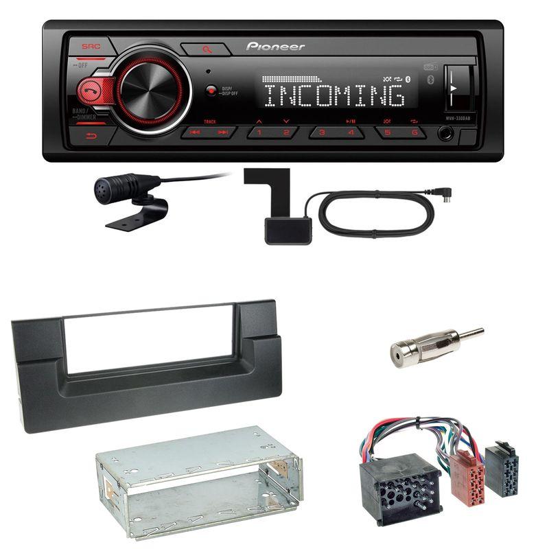 Pioneer MVH-330DAB Bluetooth Digitalradio Einbauset für BMW 5er E39 bis 09/2000