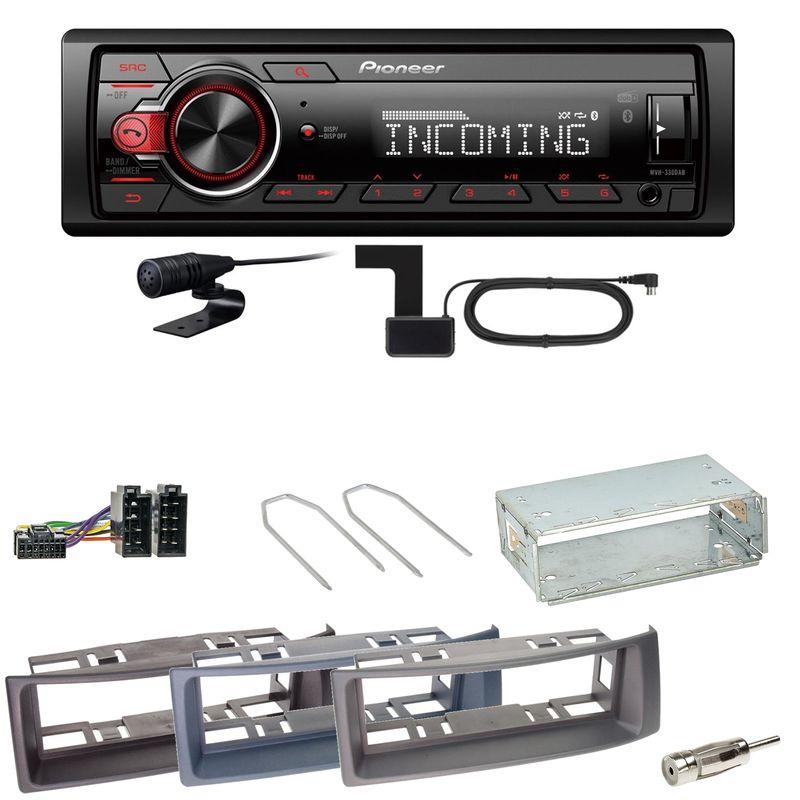 Pioneer MVH-330DAB Bluetooth Digitalradio Einbauset für Renault Megane Scenic 1