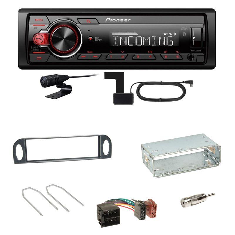 Pioneer MVH-330DAB Bluetooth Digitalradio Einbauset für Citroen C5 bis 07/2004