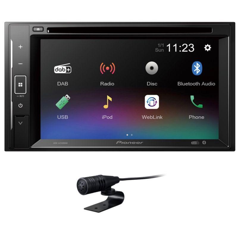 PIONEER AVH-A240DAB 2-DIN Moniceiver Bluetooth Digitalradio Weblink CD DVD USB