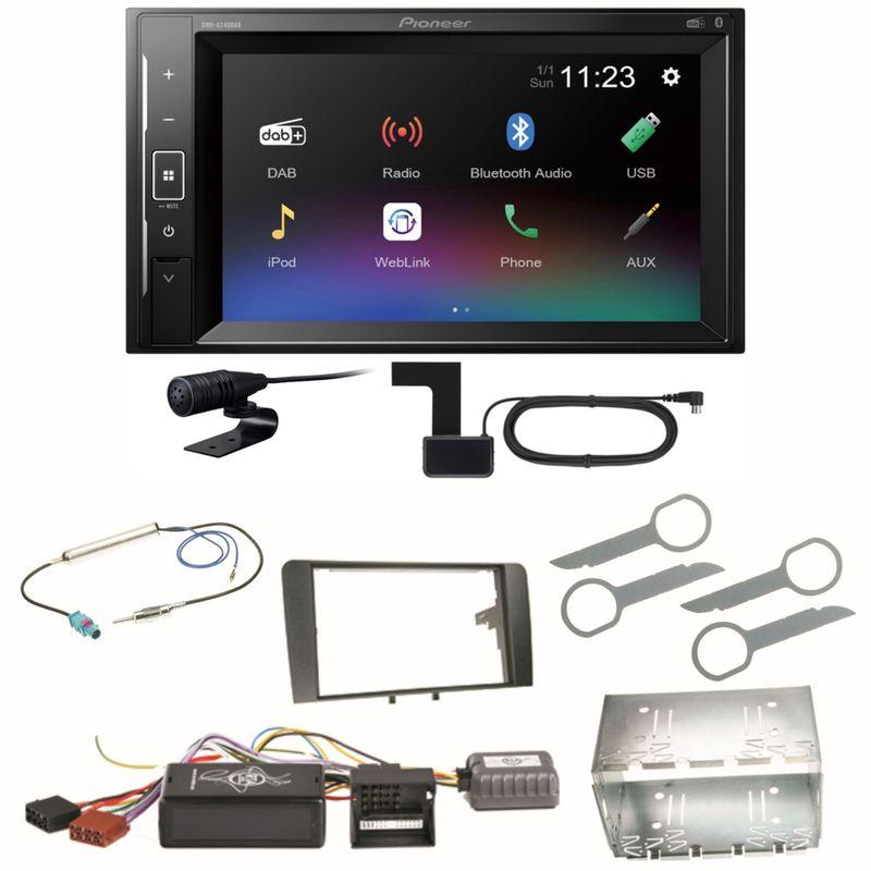 Pioneer DMH-A240DAB Digitalradio Bluetooth Einbauset für Audi A3 8P 8PA