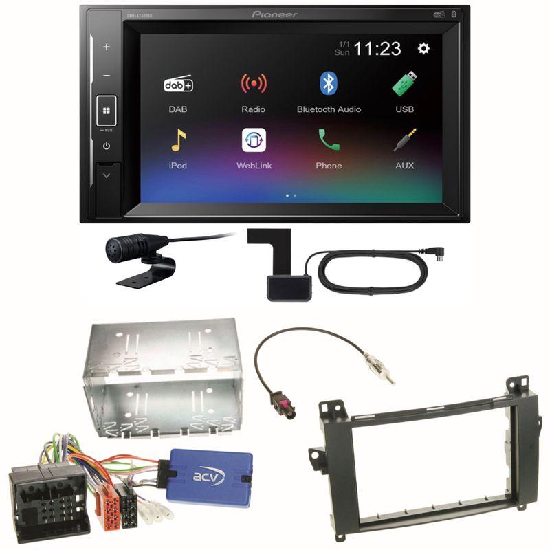 Pioneer DMH-A240DAB Digitalradio Bluetooth Einbauset für Mercedes Vito W447