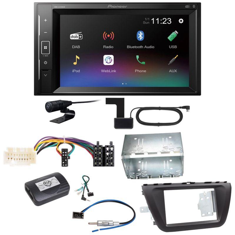 Pioneer DMH-A240DAB Digitalradio Bluetooth Einbauset für Suzuki SX4 S-Cross