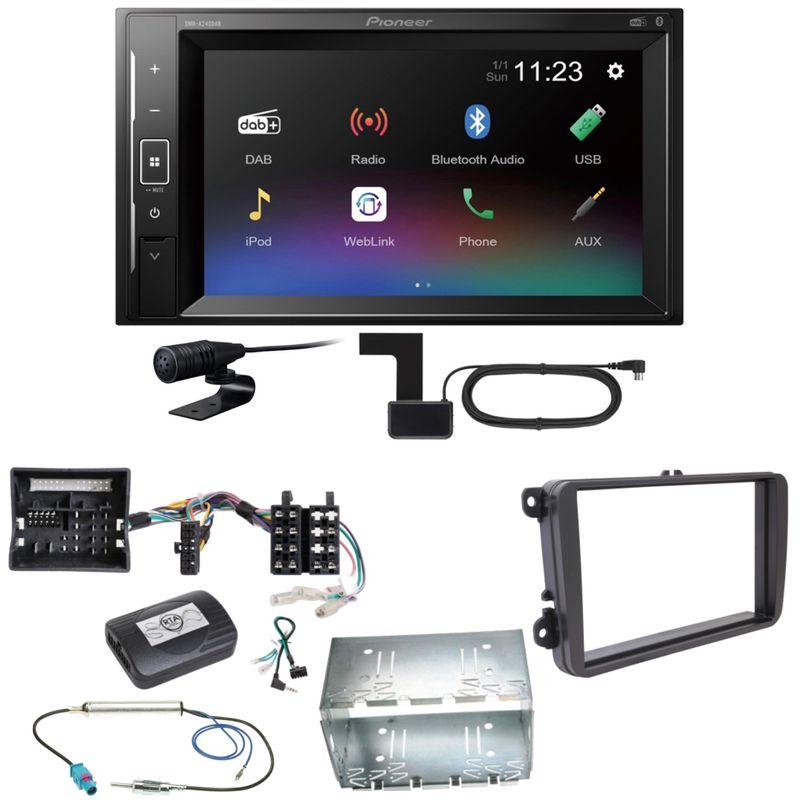 Pioneer DMH-A240DAB Digitalradio Bluetooth Einbauset für T6 Sharan 2 Beetle