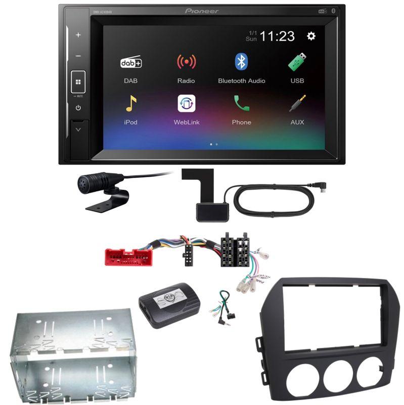 Pioneer DMH-A240DAB Digitalradio Bluetooth Einbauset für Mazda MX-5 NC