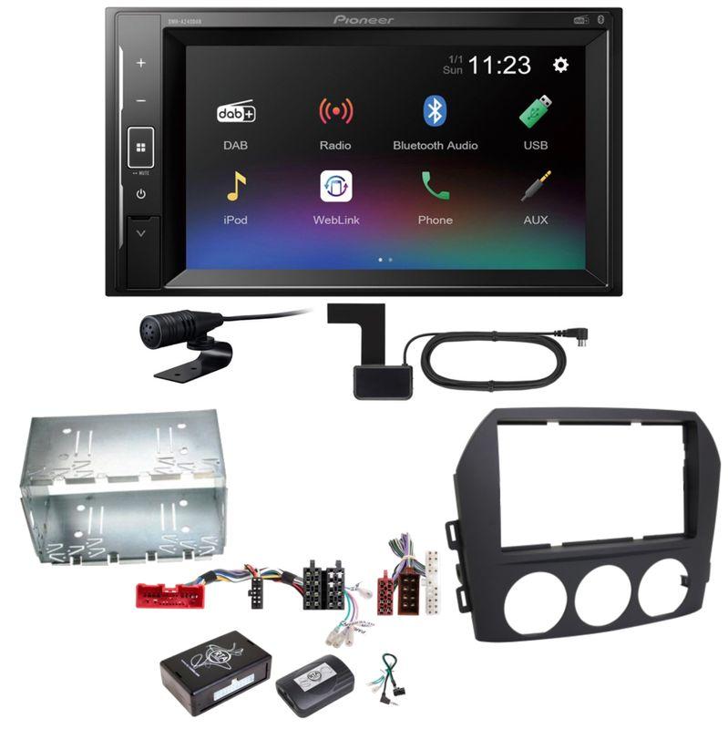 Pioneer DMH-A240DAB Digitalradio Bluetooth Einbauset für Mazda MX-5 NC FL