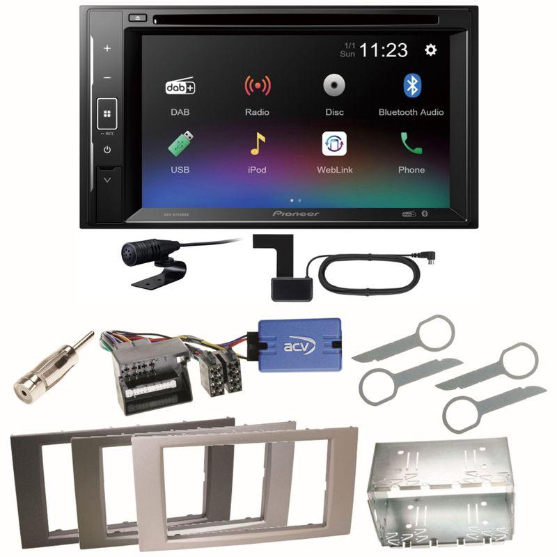 Pioneer AVH-A240DAB DAB+ Bluetooth Einbauset für Ford Kuga Fusion Galaxy S-Max
