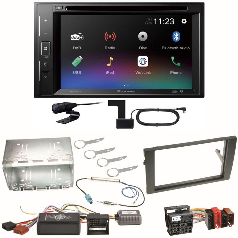 Pioneer AVH-A240DAB Digitalradio Bluetooth Einbauset für Seat Exeo Audi A4 B6 B7