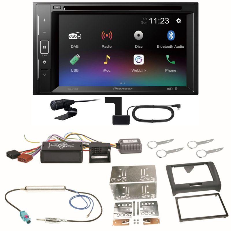 Pioneer AVH-A240DAB Digitalradio Bluetooth Einbauset für Audi TT 8J