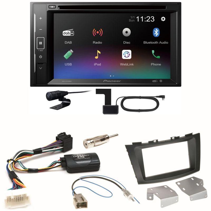 Pioneer AVH-A240DAB DAB+ Bluetooth Einbauset für Suzuki Swift Sport FZ NZ