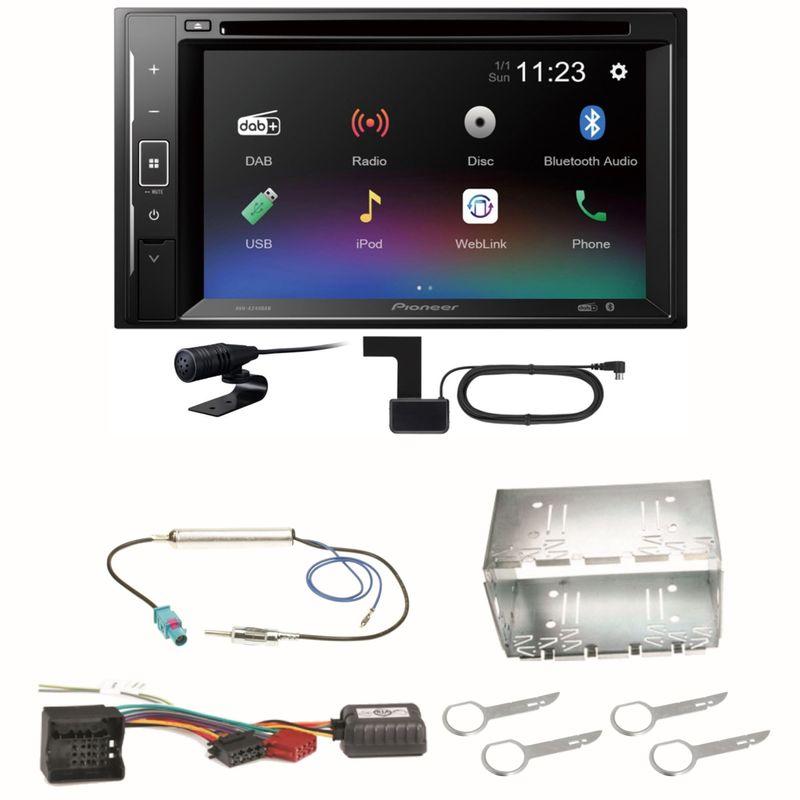 Pioneer AVH-A240DAB Digitalradio Bluetooth Einbauset für Fox Polo 9N3
