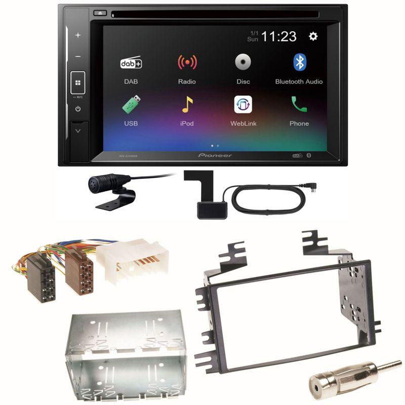 Pioneer AVH-A240DAB Digitalradio Bluetooth Einbauset für Kia Sportage JE Rio JB
