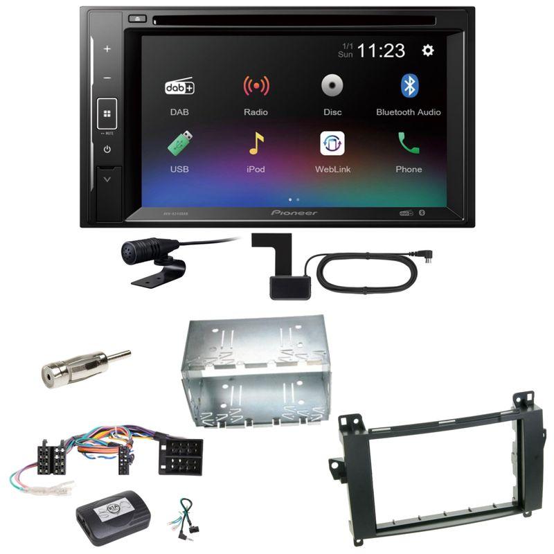 Pioneer AVH-A240DAB DAB+ Bluetooth Einbauset für Mercedes Vito Viano W639