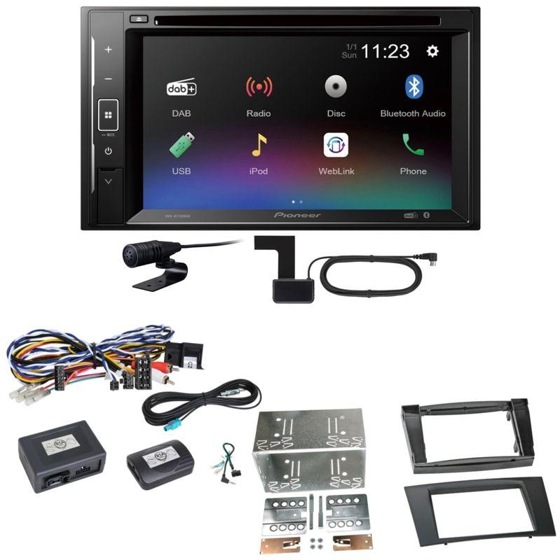 Pioneer AVH-A240DAB Digitalradio Bluetooth Einbauset für Mercedes W211 CLS W219