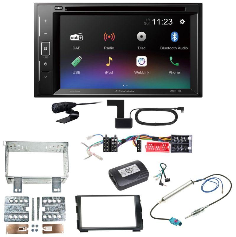 Pioneer AVH-A240DAB Digitalradio Bluetooth Einbauset für Kia Cee'd ED