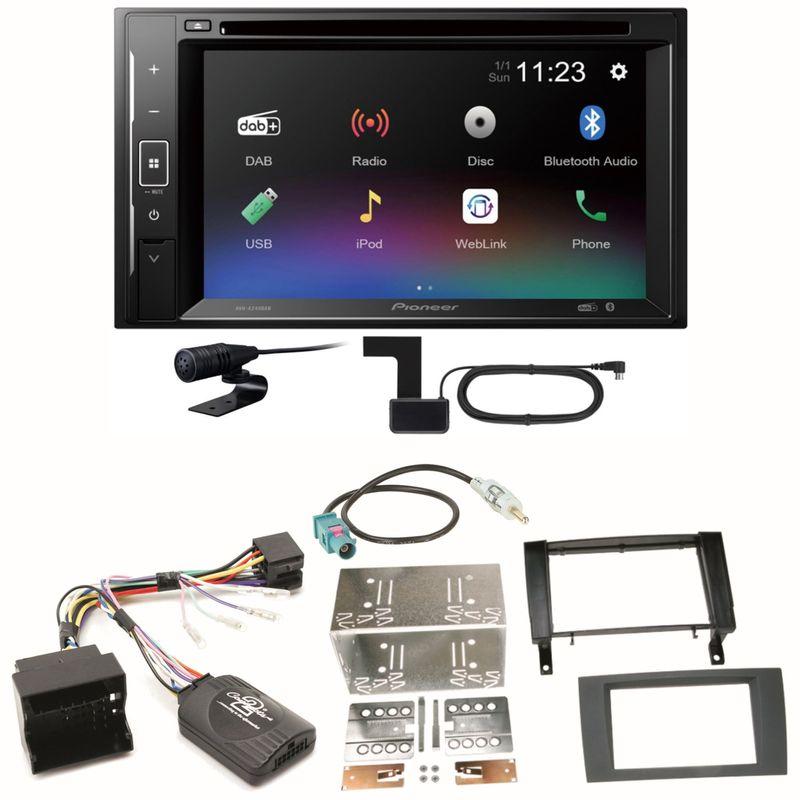 Pioneer AVH-A240DAB DAB+ Bluetooth Einbauset für Mercedes SLK R171 ab 2008