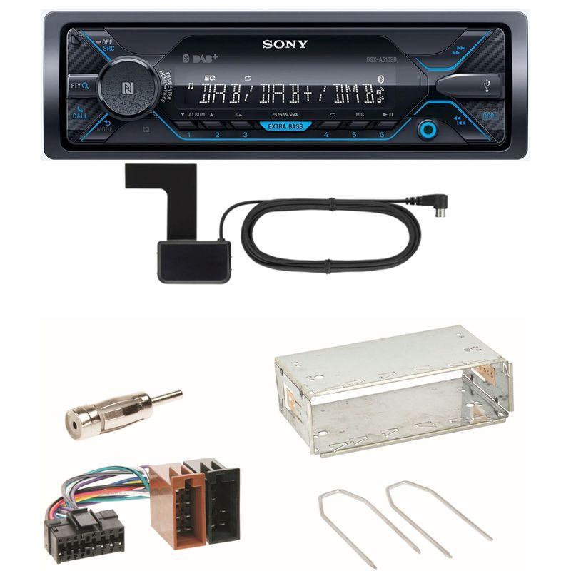 Sony DSX-A510BD Bluetooth Digitalradio Einbauset für Renault Clio 1 2 Twingo