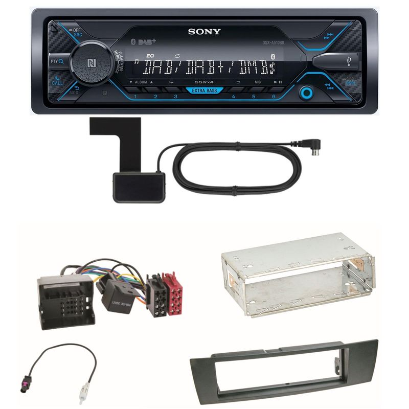 Sony DSX-A510BD Bluetooth Digitalradio Einbauset für BMW E87 E81 E82 X1 E84