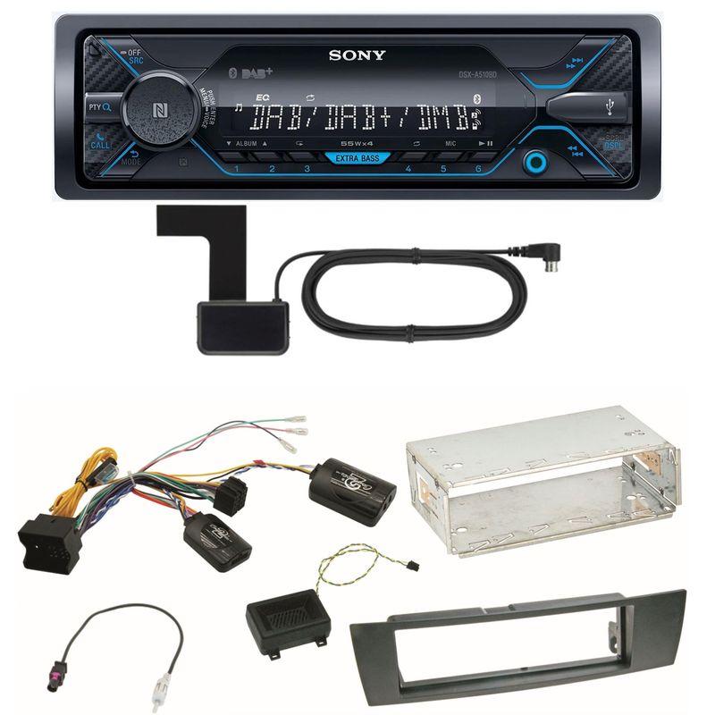 Sony DSX-A510BD Bluetooth Digitalradio Einbauset für BMW E90 E91 E92 E93