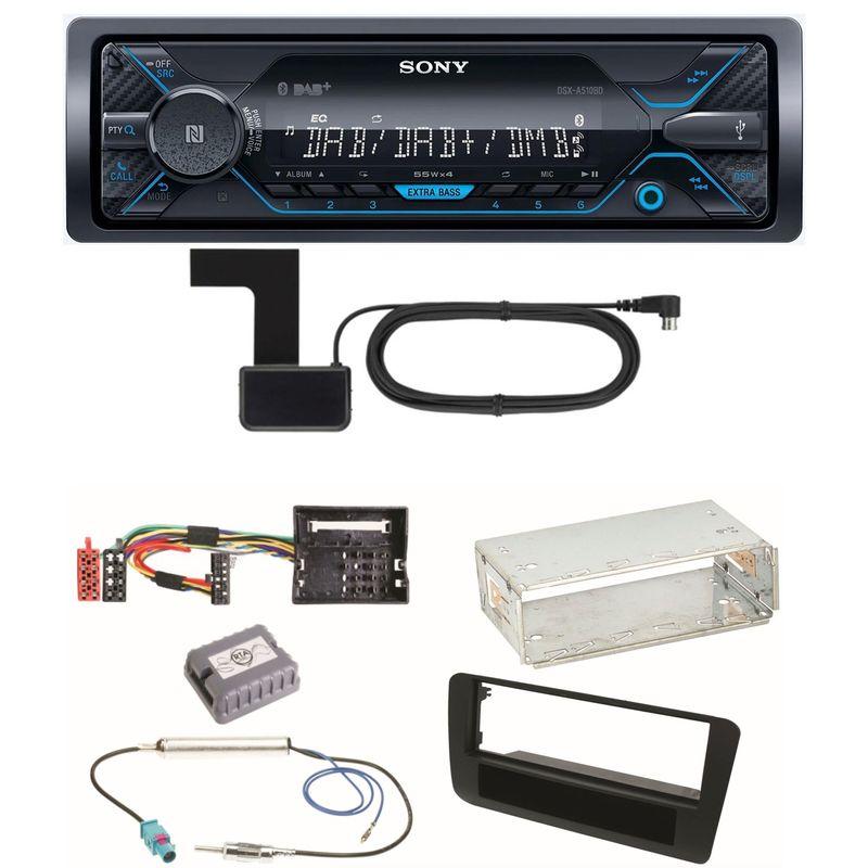 Sony DSX-A510BD Bluetooth Digitalradio USB AUX Einbauset für Audi A1 8X