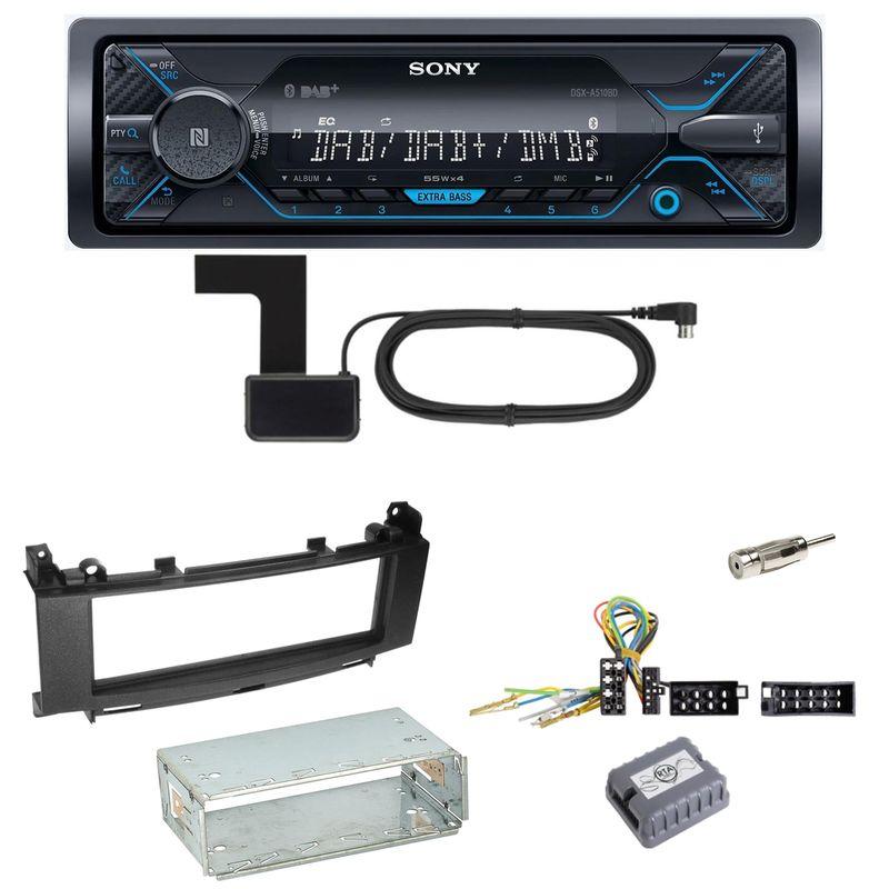 Sony DSX-A510BD Bluetooth DAB Einbauset für Mercedes A B Klasse W245 W169