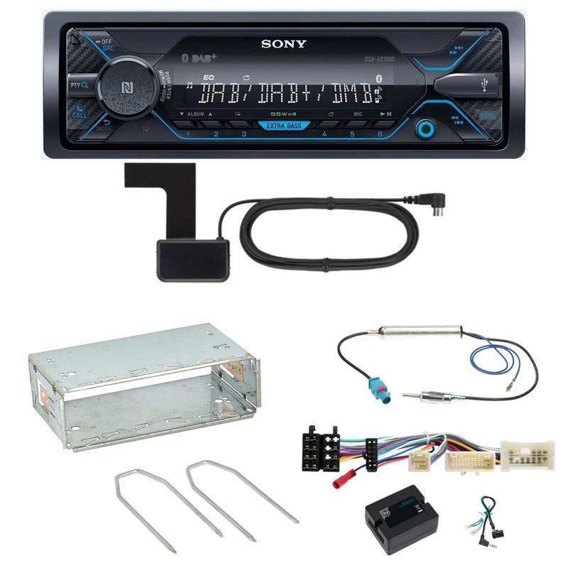 Sony DSX-A510BD Bluetooth Digitalradio Einbauset für Mercedes Citan W415