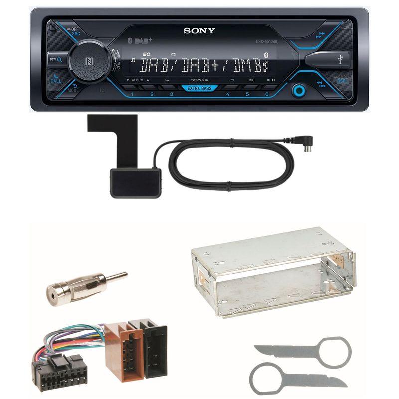 Sony DSX-A510BD Bluetooth DAB Einbauset für Mercedes SLK R170 W208 W210