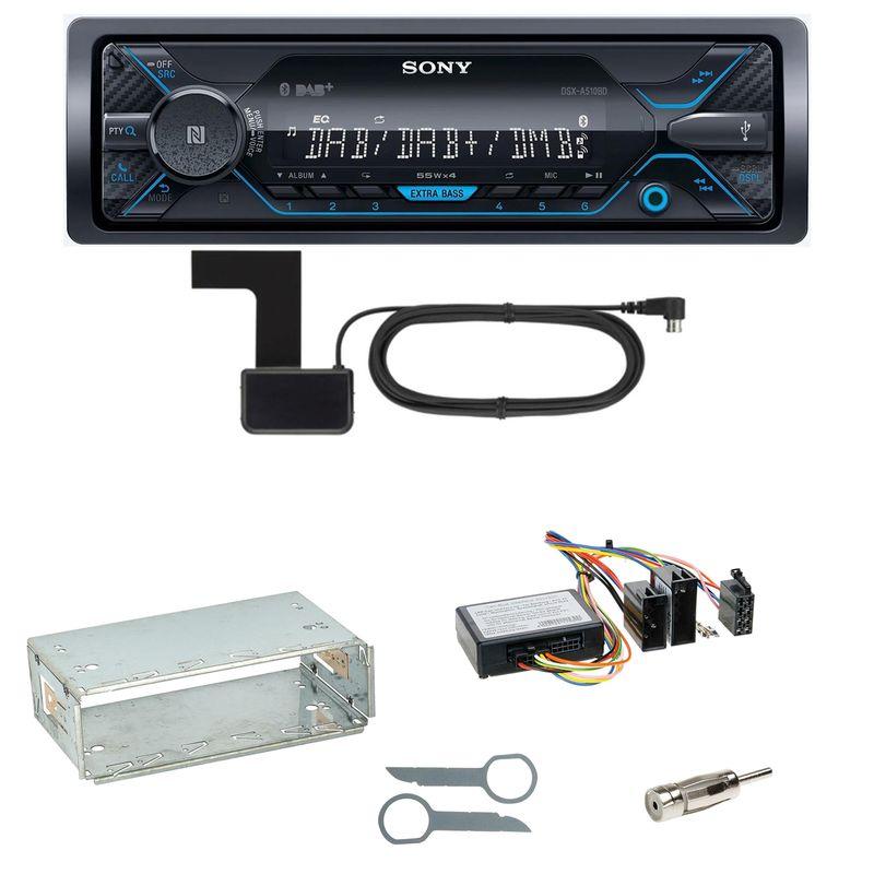 Sony DSX-A510BD Bluetooth Digitalradio Einbauset für Mercedes W210 ab 08/99