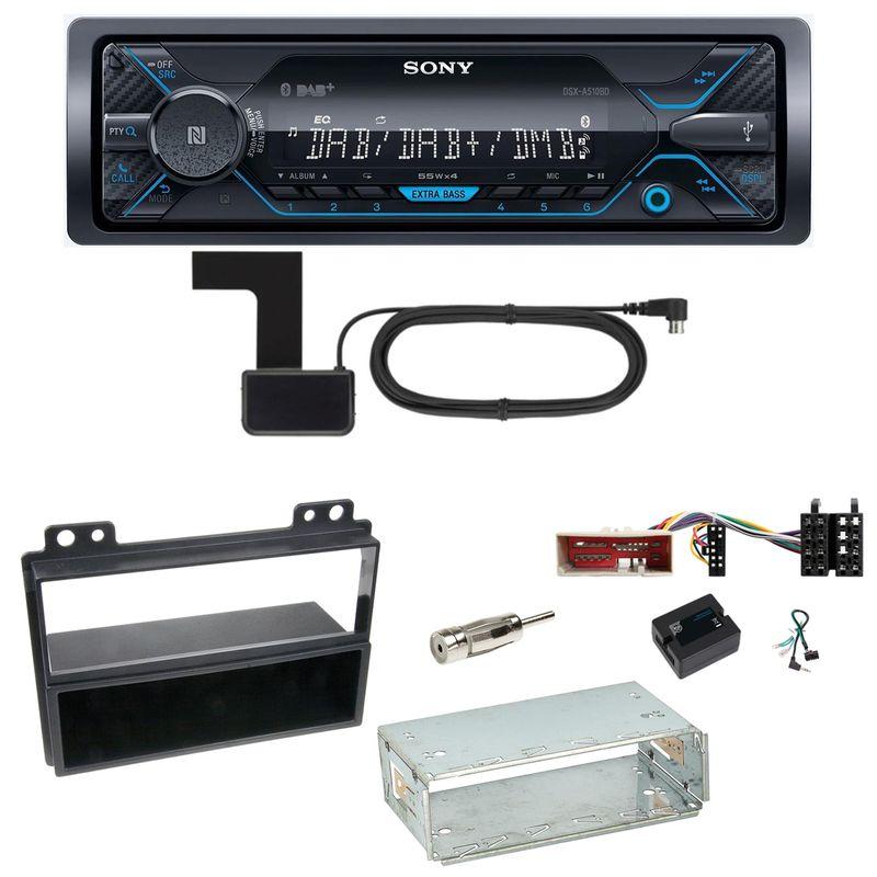 Sony DSX-A510BD Bluetooth Digitalradio USB AUX Einbauset für Ford Fusion Fiesta