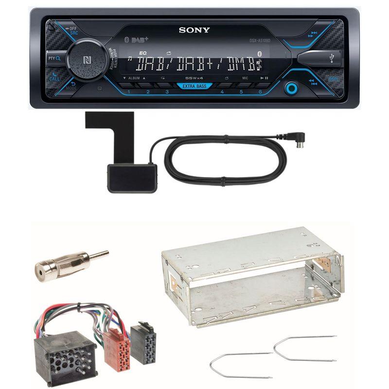 Sony DSX-A510BD Bluetooth Digitalradio USB AUX Einbauset für BMW E30 E34 E32