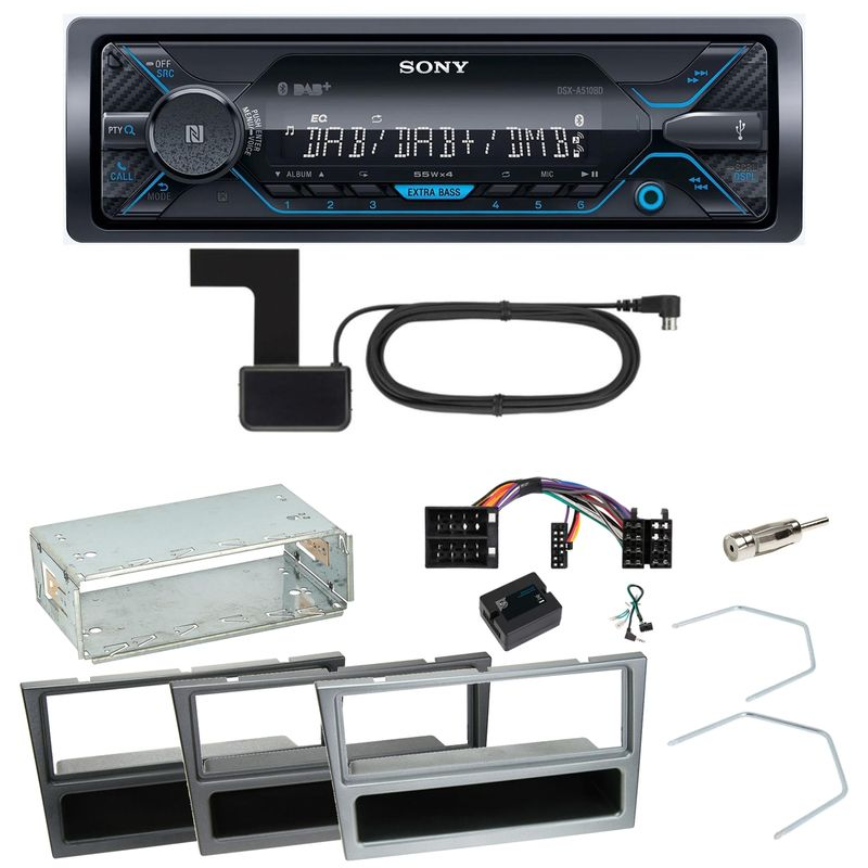 Sony DSX-A510BD Bluetooth DAB Einbauset für Opel Omega B Meriva A Agila Vivaro
