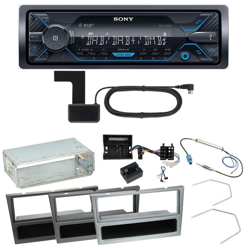 Sony DSX-A510BD Bluetooth DAB Einbauset für Opel Signum Corsa C Tigra Twintop