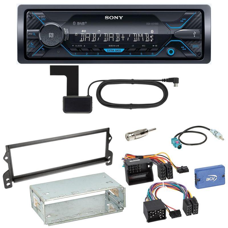 Sony DSX-A510BD Bluetooth Digitalradio USB AUX Einbauset für MINI R50 R52 R53