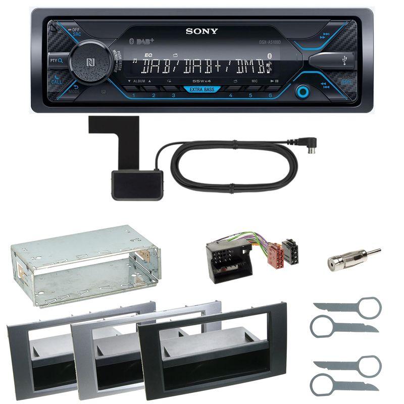 Sony DSX-A510BD Bluetooth DAB Einbauset für Ford Kuga Fusion Galaxy S-Max