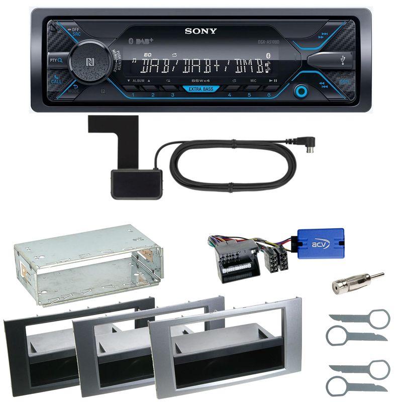 Sony DSX-A510BD Bluetooth DAB Einbauset für Ford Focus C-Max Fiesta Transit