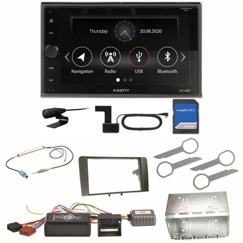 XZENT X-427 Digitalradio Bluetooth PKW Navigation Einbauset für Audi A3 8P 8PA