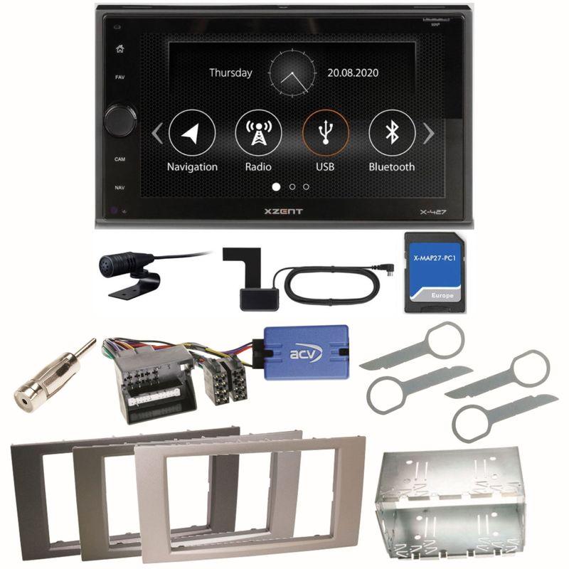 XZENT X-427 DAB+ Bluetooth Navi USB Einbauset für Ford Kuga Fusion Galaxy S-Max