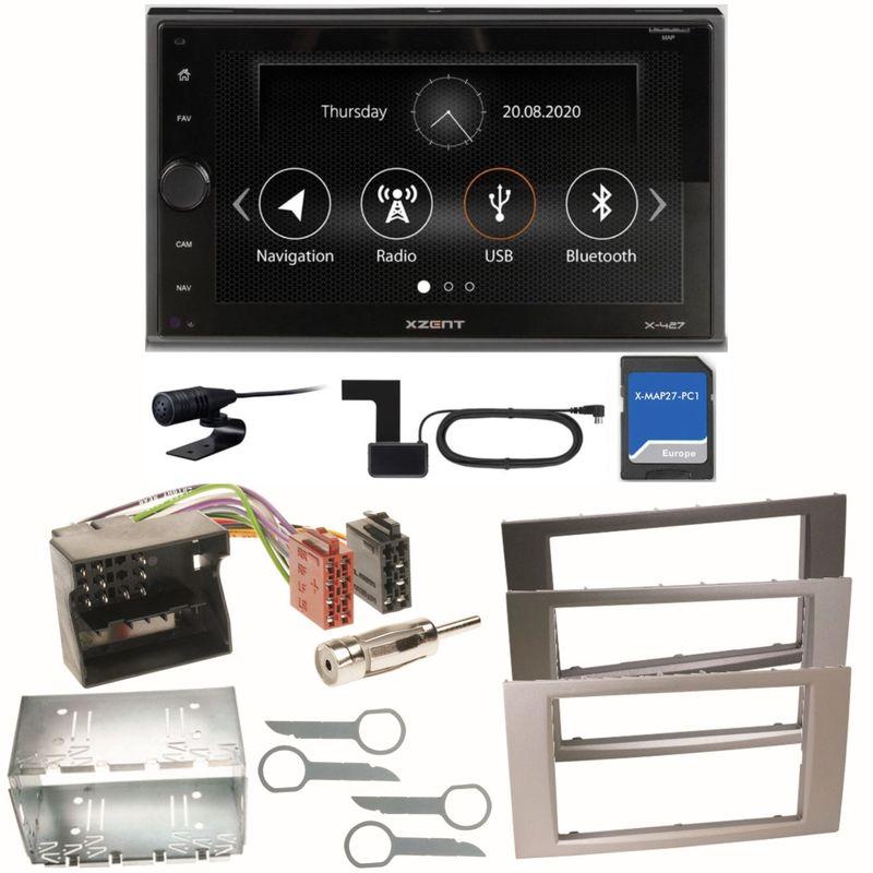 XZENT X-427 DAB+ Bluetooth USB MP3 Einbauset für Ford Focus Fusion Galaxy S-Max