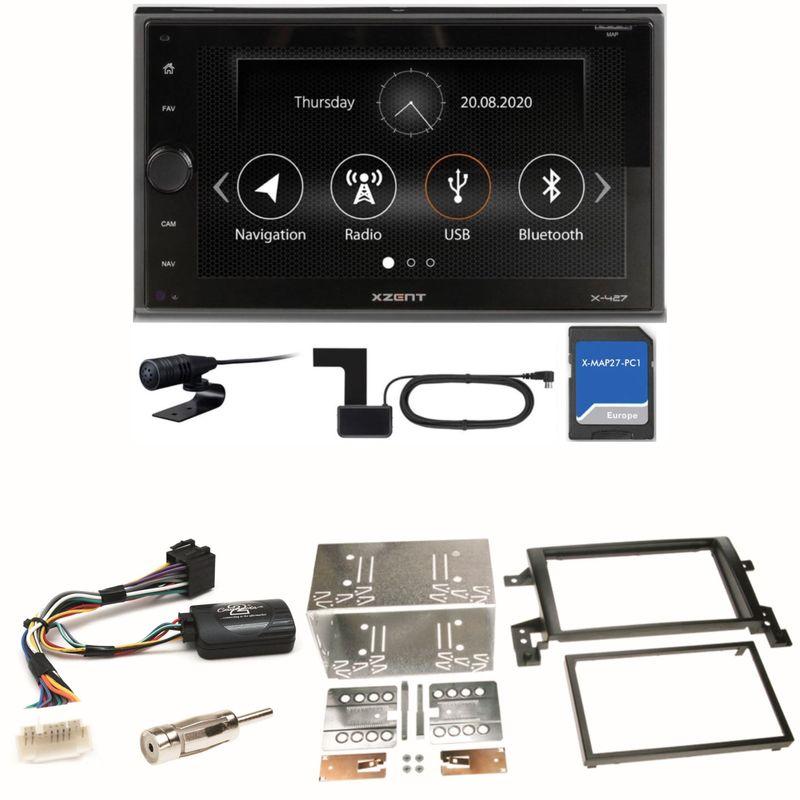 XZENT X-427 DAB+ Bluetooth PKW Navigation Einbauset für Suzuki Grand Vitara JT