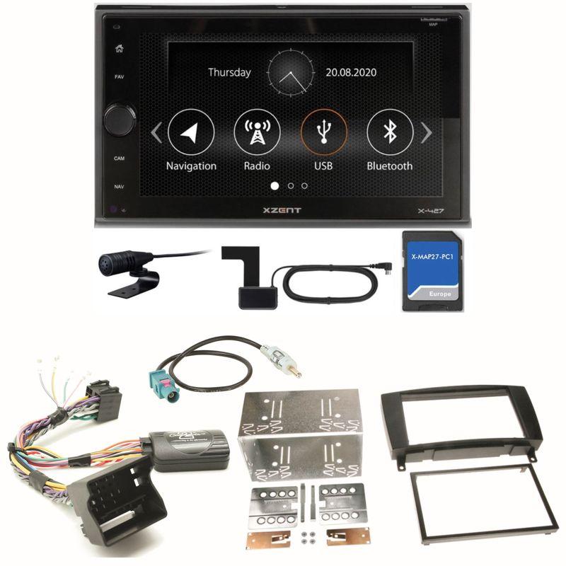 XZENT X-427 Digitalradio PKW Navigation Einbauset für Mercedes CLK W209 Facelift
