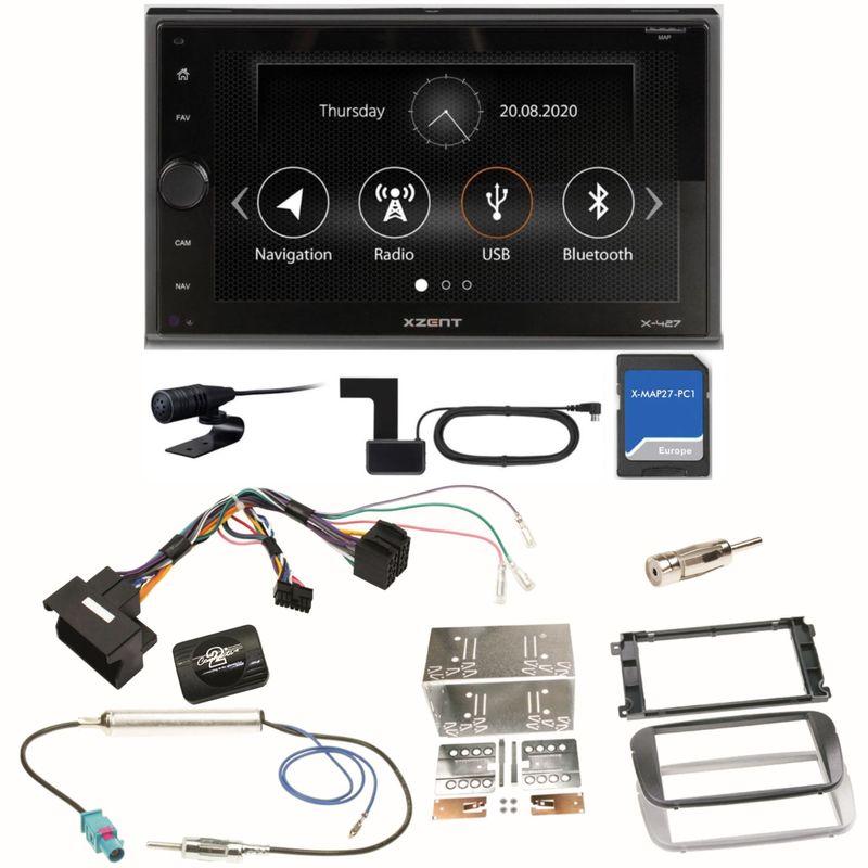 XZENT X-427 DAB+ PKW Navigation Einbauset für Ford Focus Mondeo S-Max Galaxy