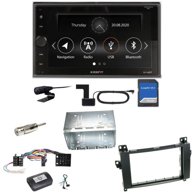 XZENT X-427 DAB+ Bluetooth PKW Navigation Einbauset für Mercedes Vito Viano W639