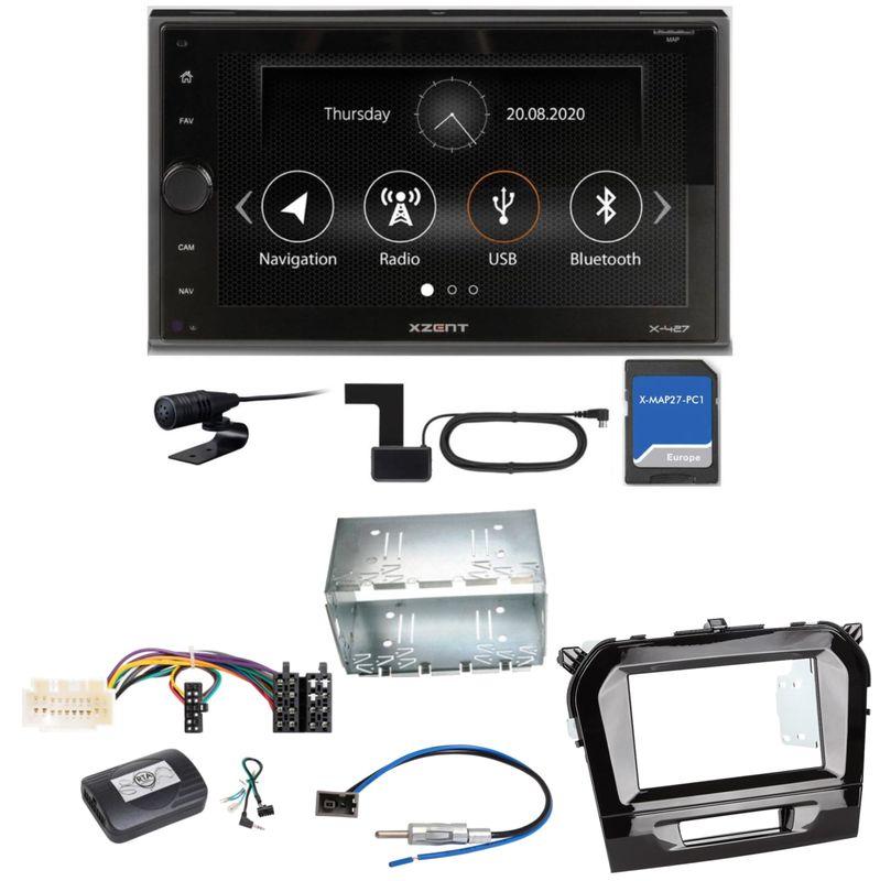 XZENT X-427 Digitalradio Bluetooth PKW Navigation Einbauset für Suzuki Vitara LY