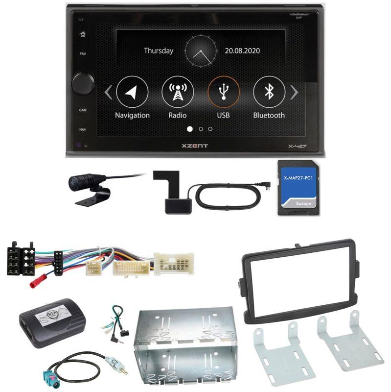 XZENT X-427 Bluetooth PKW Navigation USB Einbauset für Dacia Duster Lodgy Logan